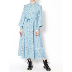 ジュエティ リトルフラワーパターンワンピース レディース ブルー M 【jouetie】