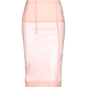《期間限定セール開催中!》VICTORIA BECKHAM レディース 7分丈スカート ピンク 10 シルク 55% / ナイロン 35% / ポリエステル 8% / ポリウレタン 2%
