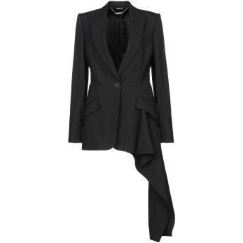《期間限定セール開催中!》ALEXANDER MCQUEEN レディース テーラードジャケット ブラック 42 ウール 63% / シルク 25% / ナイロン 12%