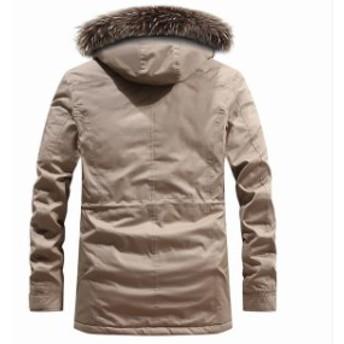 モッズコートメンズ ミリタリー ロングジャケット 裏ボアコート 防寒着 冬服 裏起毛 大きいサイズ ファー飾り