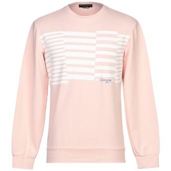 《期間限定セール開催中!》DANIELE ALESSANDRINI メンズ スウェットシャツ ライトピンク M コットン 95% / ポリウレタン 5%
