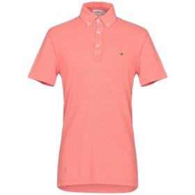 《期間限定セール開催中!》BROOKSFIELD メンズ ポロシャツ コーラル 50 コットン 100%