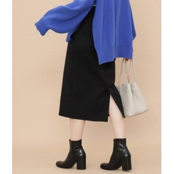 アダム エ ロペ ファム/【予約】/ベルト付ハイウエストタイトスカート/ブラック/34