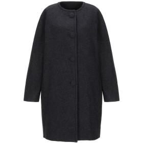 《期間限定セール開催中!》ANTONELLI レディース コート ブラック 40 毛(アルパカ) 50% / バージンウール 50%