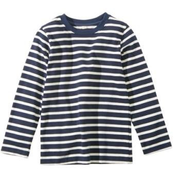 先染めボーダー長袖Tシャツ(男の子。女の子 子供服。ジュニア服) Tシャツ・カットソー