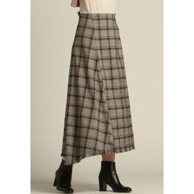 Droite lautreamont 【WEB・一部店舗別注】チェックフリンジスカート その他 スカート,ブラウン系その他
