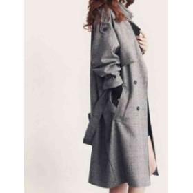 秋冬新作 ラシャコート コート アウター レディース 女性 大きいサイズ ゆったり チェック柄 大人気 ファッションまた暖かい