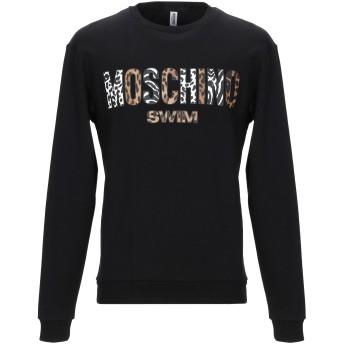 《9/20まで! 限定セール開催中》MOSCHINO メンズ スウェットシャツ ブラック XS コットン 100%