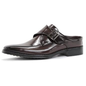 [AAA+] 2694 ビジネスシューズ 靴 サンダル オフィス スリッポン 紳士靴 メンズ (M, ブラウン)