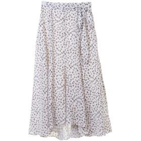 31 Sons de mode トランテアン ソン ドゥ モード レオパードプリントスカート オフホワイト