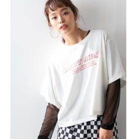 [マルイ]【セール】シースルーセットロゴTシャツ/ウィゴー(レディース)(WEGO)
