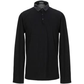 《期間限定セール開催中!》LANVIN メンズ ポロシャツ ブラック S コットン 100%