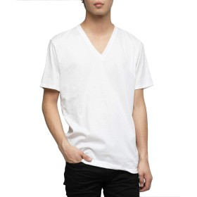 VANQUISH【ヴァンキッシュ】プレミアムスムースコットンVネックTシャツ 半袖 tシャツ tee カットソー [VGC1205]