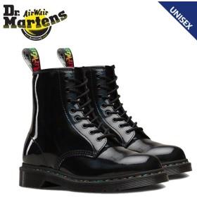 ドクターマーチン Dr.Martens 8ホール 1460 ブーツ メンズ レディース RAINBOW PATENT 8EYE BOOT ブラック 黒 R24667001
