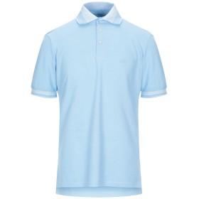 《セール開催中》BAGUTTA メンズ ポロシャツ スカイブルー S コットン 100%