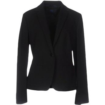 《期間限定セール開催中!》BLUE LES COPAINS レディース テーラードジャケット ブラック 40 レーヨン 69% / ナイロン 25% / ポリウレタン 6%