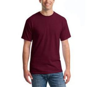 ACHICOO Tシャツ 半袖シャツ シャツ 男性 夏用 メンズ カジュアル ラウンドカラー ファッション ラウンドネック トップス あずき色 M