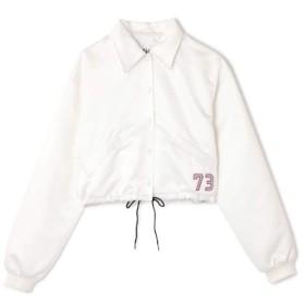 【ローズバッド/ROSEBUD】 バックロゴ刺繍ショートジャケット