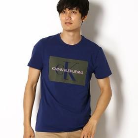 [マルイ] 【CALVIN KLEIN JEANS】 CK ボックス ロゴ クルーネック Tシャツ/カルバン・クライン(CALVIN KLEIN)