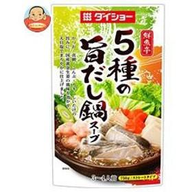 【送料無料】ダイショー 鮮魚亭 5種の旨だし鍋スープ 750g×10袋入