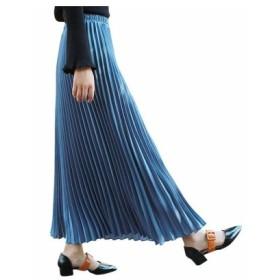 (M・Paulownia/エム・ポロニア)プリーツスカート/レディース BLUE