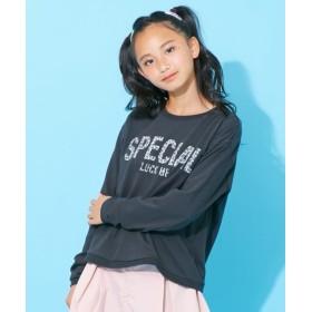 レオパードロゴTシャツ(女の子 子供服。ジュニア服) Tシャツ・カットソー