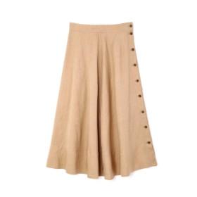 【ローズバッド/ROSEBUD】 サイドボタンフレアスカート