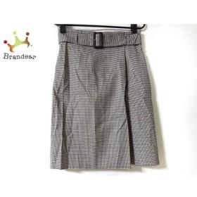 ニジュウサンク 23区 スカート サイズ38 M レディース 美品 黒×白 チェック柄 新着 20190905