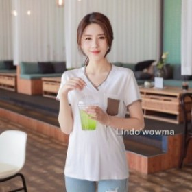ッションTシャツ 新作 マッチングしやすい  半袖シャツ  レディース Tシャツ