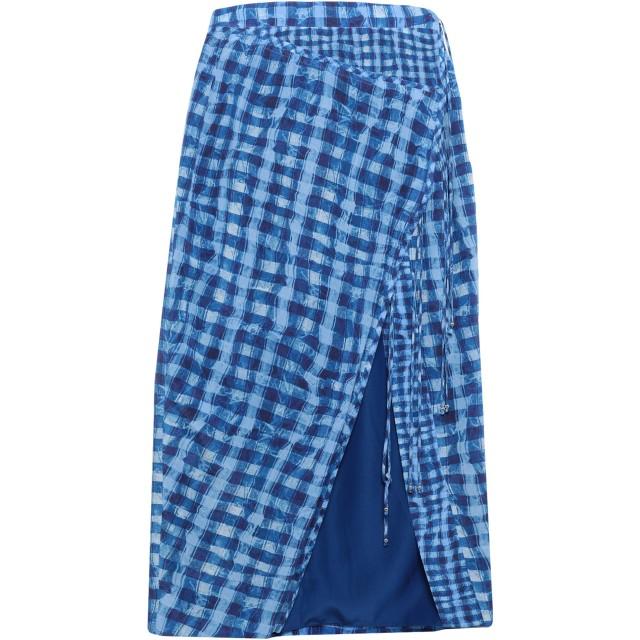 《セール開催中》ALTUZARRA レディース 7分丈スカート ブルー 36 シルク 100%