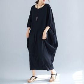 夏 ファッション お出かけ オシャレ トップス 体型カバー レディース 新作 ワンピース 主婦 婦人服 大きいサイズ スリム