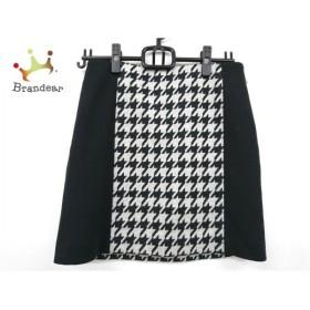 ピンキー&ダイアン スカート サイズ38 M レディース 美品 黒×ライトグレー 千鳥格子 新着 20190905
