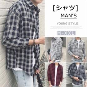 Tシャツ メンズ 大きいサイズ シャツ メンズ カジュアルシャツ 長袖 シャツ メンズ シャツ オシャレ男子 ゆるシャツ