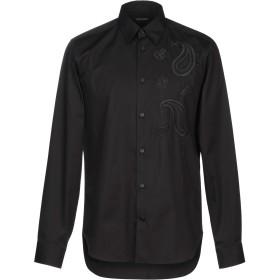 《セール開催中》ROBERTO CAVALLI メンズ シャツ ブラック 48 コットン 96% / ポリウレタン 4%
