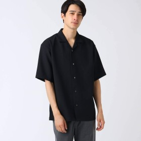(ティーケー タケオキクチ) tk.TAKEO KIKUCHI ブッチャーオープンカラーシャツ 17086301 01(S) ブラック(019)