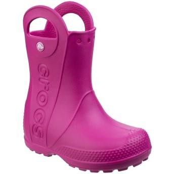 [Crocs] (クロックス) キッズ・子供・ジュニア ハンドル・イット ウェリントンブーツ 子供靴 長靴 レインブーツ (12 UK ジュニア) (キャンディーピンク)