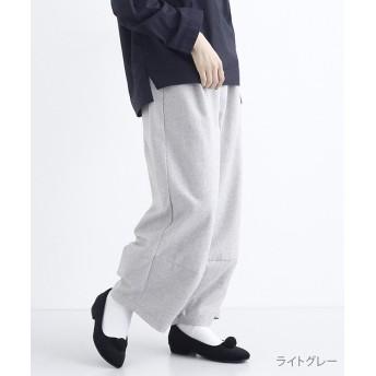 メルロー ウールミックスコクーンパンツ レディース ライトグレー FREE 【merlot】