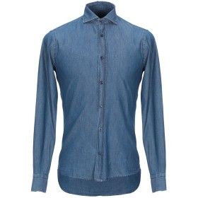 《期間限定セール開催中!》HISTORIC メンズ デニムシャツ ブルー S コットン 100%
