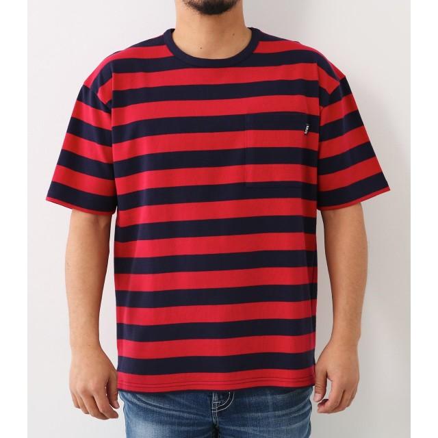(ロデオクラウンズ ワイドボウル) RODEO CROWNS WIDE BOWL Tシャツ 度詰天竺 ボーダー Tシャツ メンズ 421BSW80-0550 0 レッド系その他