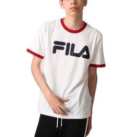 [フィラ] FILA リンガーTee fh7333 ホワイト×レッド LL