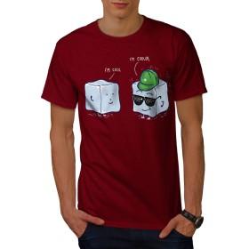 Wellcoda クール 氷 立方体 男性用 赤 2XL Tシャツ