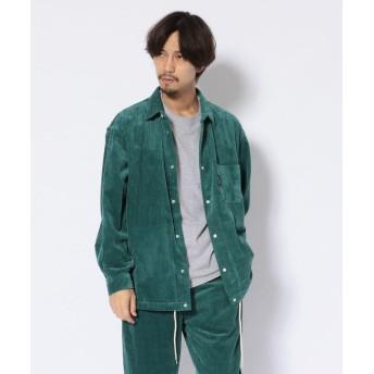 ショット CORDUROY COACH SHIRT/コーデュロイ コーチシャツ メンズ TURQUOI M 【Schott】