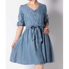 (LEVI'S OUTLET/リーバイス アウトレット)BOW DRESS BLUE CHAMBRAY 3.7/レディース インディゴブルー
