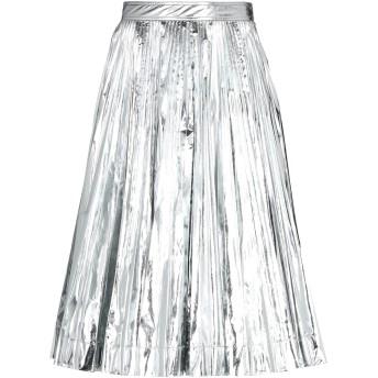 《セール開催中》CALVIN KLEIN 205W39NYC レディース 7分丈スカート シルバー 40 ポリエステル 100%