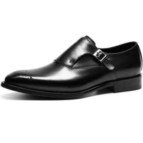 [インボラ] ビジネスシューズ メンズ 革靴 紳士靴 本革 ストレートチップ ウイングチップ モンクストラップ フォーマル 四季 ブラック WH518-02 27.0cm