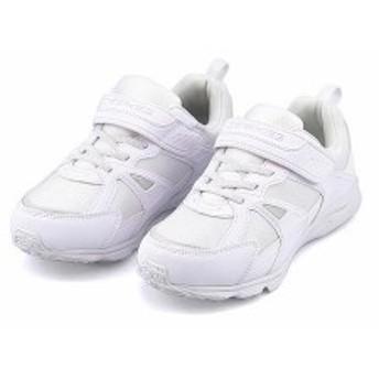 スニーカー 女の子 男の子 キッズ 子供靴 反射材 白 撥水 チャーキーズ CHARKIES 2533 ホワイト