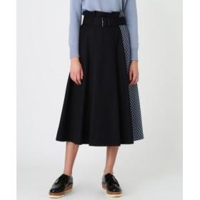 (BLUE LABEL BLACK LABEL CRESTBRIDGE/ブルーレーベル ブラックレーベル クレストブリッジ)ブリットチェックパーシャルスカート/レディース ネイビー 送料無料