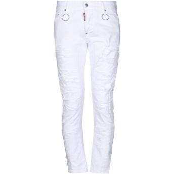 《期間限定セール開催中!》DSQUARED2 メンズ ジーンズ ホワイト 46 コットン 100% / ポリウレタン