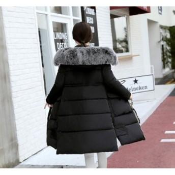 期間セール 秋冬物 ロング中綿ジャケット ダウンコート レディース アウター 暖かい 防風 防寒 厚手 軽量 着痩せ 無地 フード付き