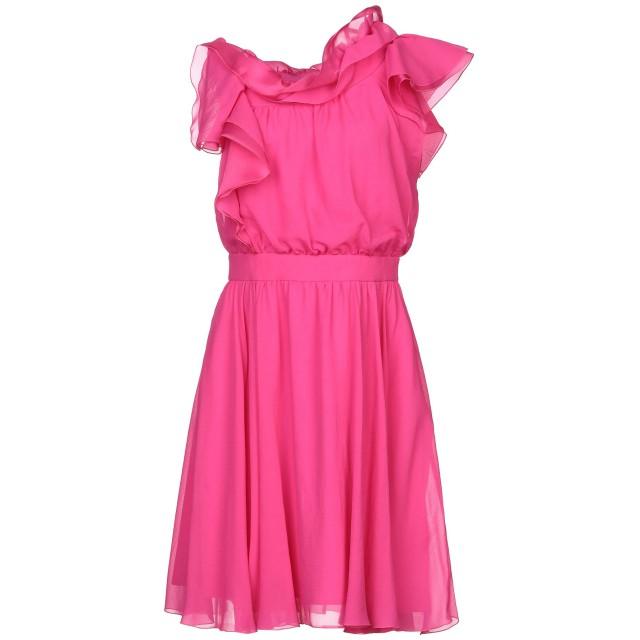 《セール開催中》GENNY レディース ミニワンピース&ドレス フューシャ 38 ポリエステル 100% / シルク